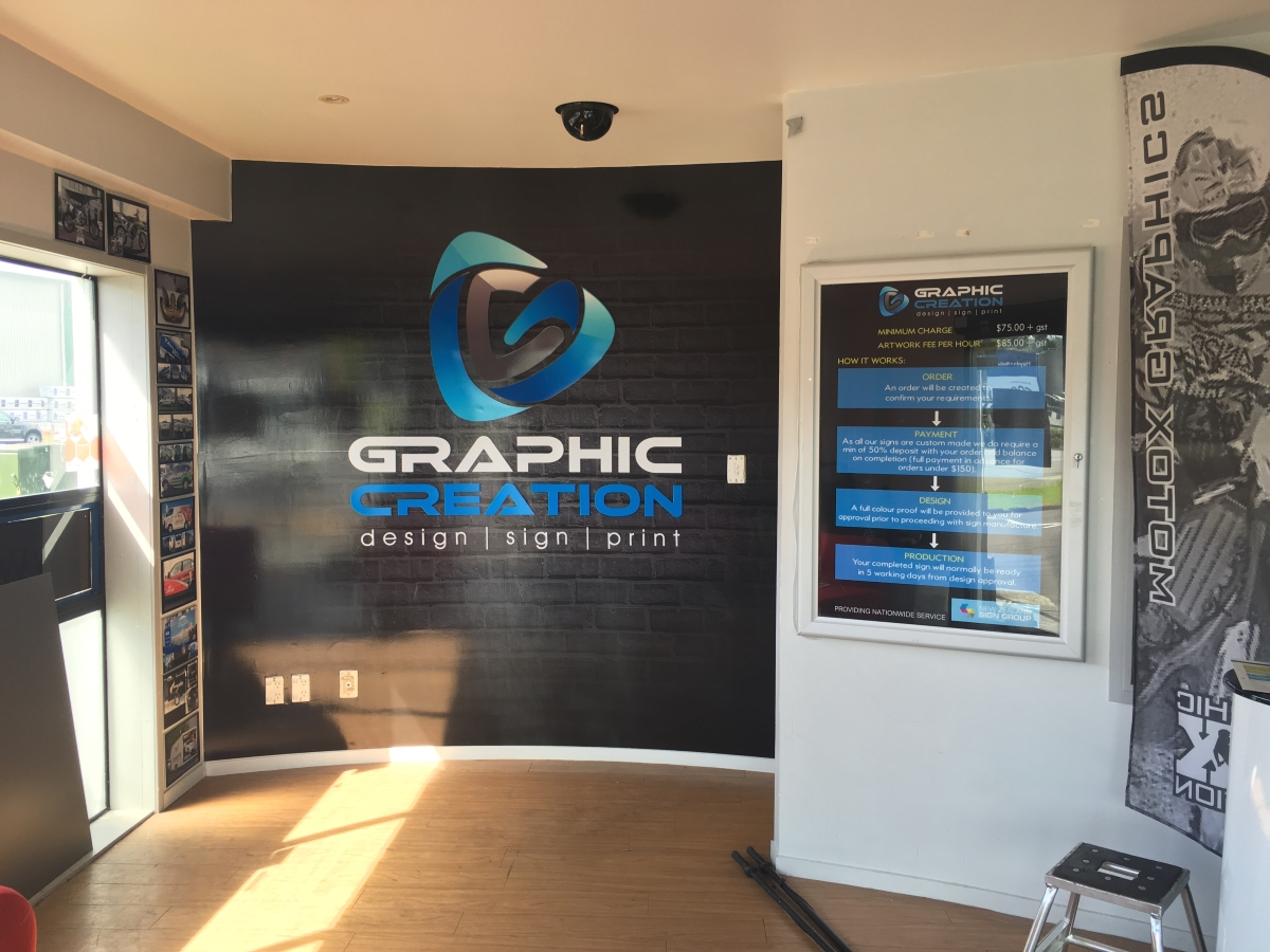 Graphic Creation showroom - promotion