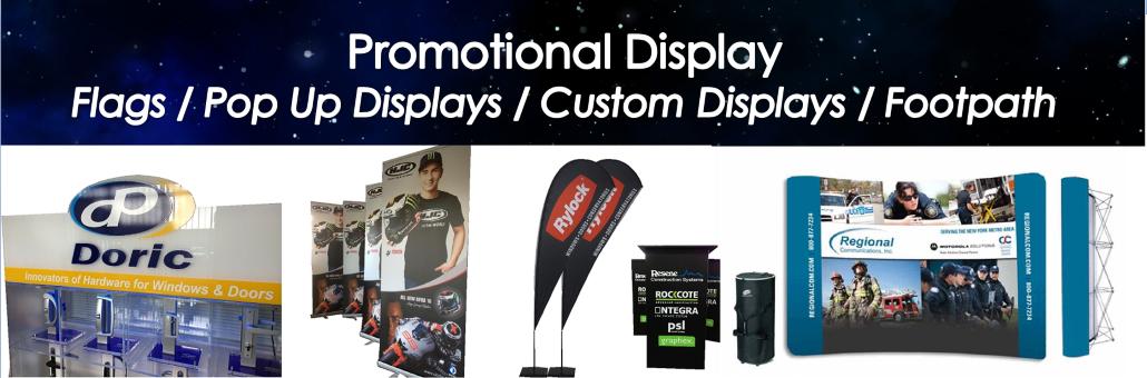 Promotional Display Signage Slider